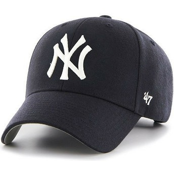 47 Brand Curved Brim Youth New York Yankees MLB MVP Navy Blue Cap