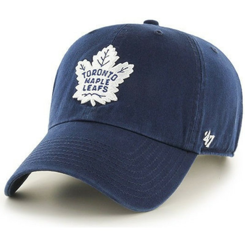 47-brand-curved-brim-toronto-maple-leafs-nhl-clean-up-navy-blue-cap