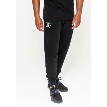New Era Oakland Raiders NFL Black Long Track Pant