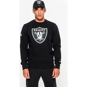 New Era Las Vegas Raiders NFL Black Crew Neck Sweatshirt