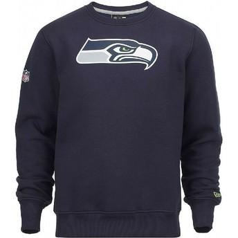 New Era Seattle Seahawks NFL Blue Crew Neck Sweatshirt