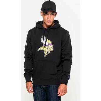 New Era Minnesota Vikings NFL Black Pullover Hoodie Sweatshirt