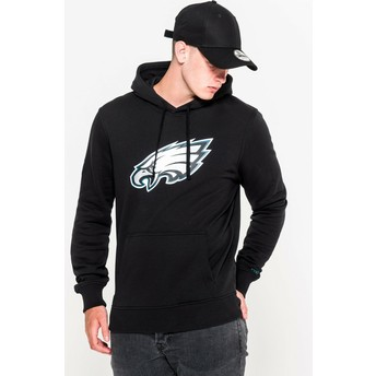 New Era Philadelphia Eagles NFL Black Pullover Hoodie Sweatshirt