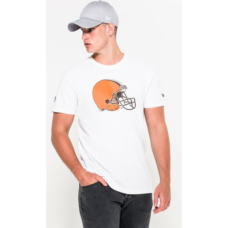 cee0b3117eb New Era Cleveland Browns NFL White T-Shirt: Shop Online at Caphunters