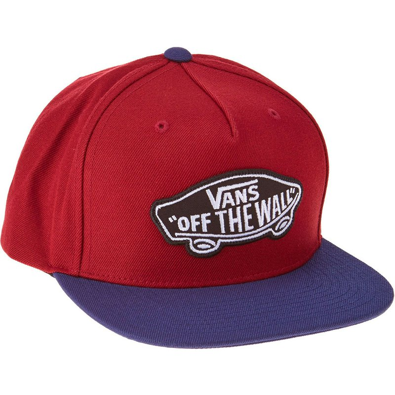 vans-purple-flat-brim-classic-patch-red-snapback-cap
