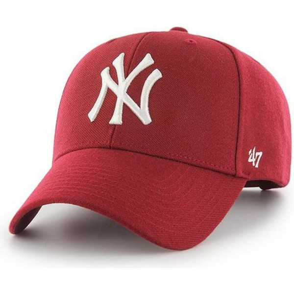 47-brand-curved-brim-new-york-yankees-mlb-mvp-dark-red-snapback-cap