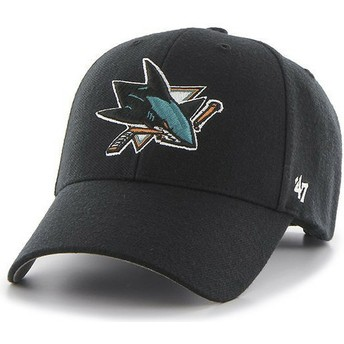 47 Brand Curved Brim San Jose Sharks NHL MVP Black Cap