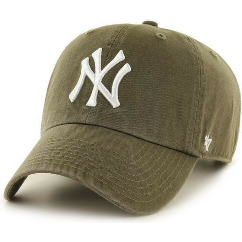 47-brand-curved-brim-new-york-yankees-mlb-clean-up-brown-cap