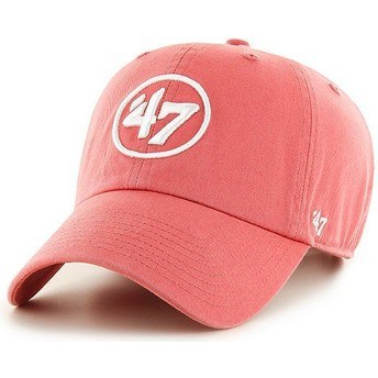 47 Brand Curved Brim 47 Logo Clean Up Red Cap