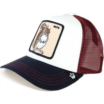 Goorin Bros. Squirrel Bonkers White and Red Trucker Hat