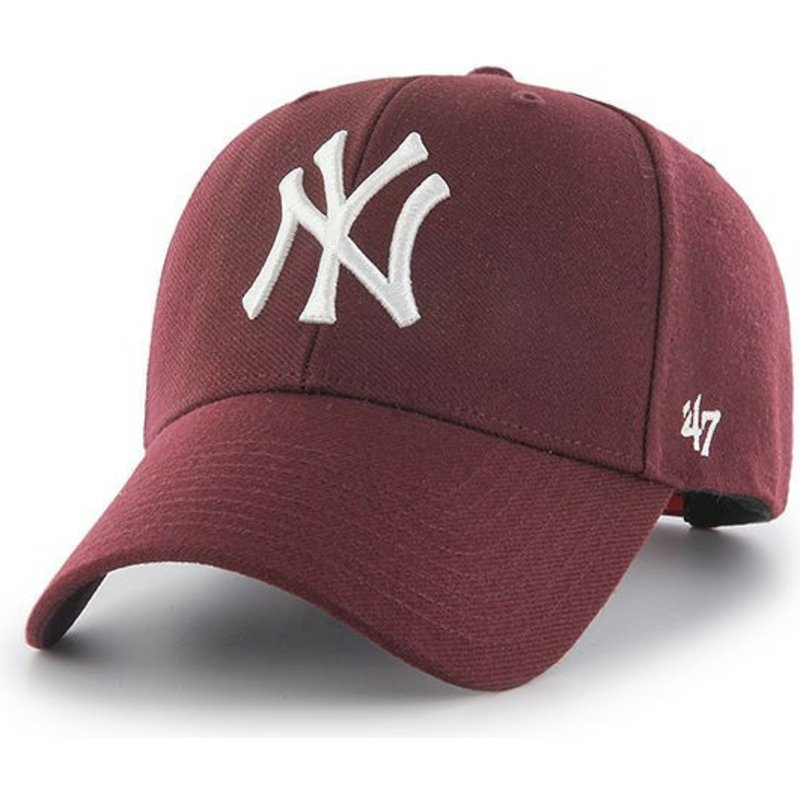 47-brand-curved-brim-maroon-new-york-yankees-mlb-mvp-red-snapback-cap