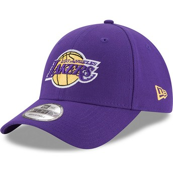 New Era Curved Brim 9FORTY The League Los Angeles Lakers NBA Purple Adjustable Cap