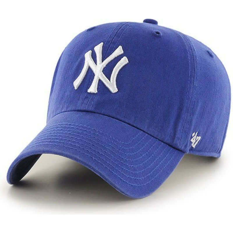 47-brand-curved-brim-youth-new-york-yankees-mlb-clean-up-youth-blue-cap