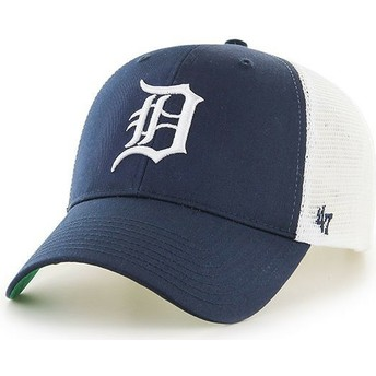 47 Brand Detroit Tigers MLB MVP Branson Navy Blue Trucker Hat