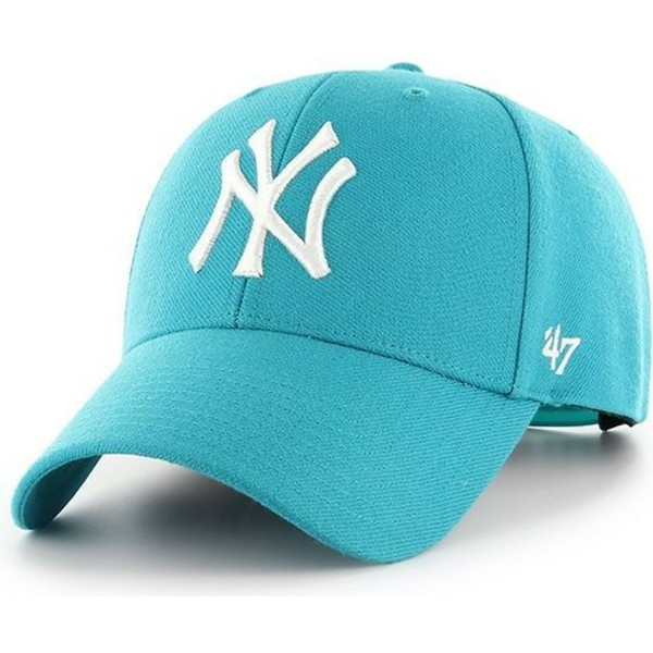 47-brand-curved-brim-new-york-yankees-mlb-mvp-neptune-blue-snapback-cap