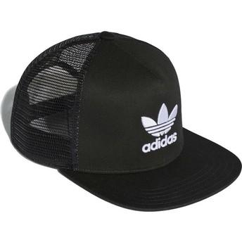 Adidas Trefoil Black Trucker Hat