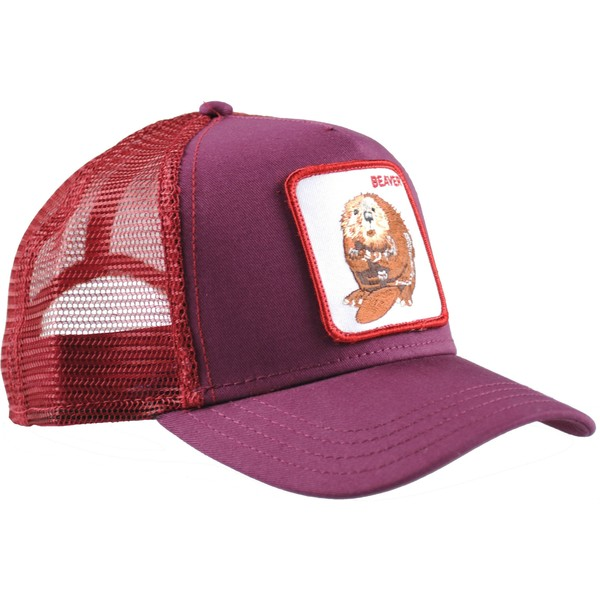 6aaa6cd4ad087 Goorin Bros. Two Beavers Maroon Trucker Hat: Shop Online at Caphunters