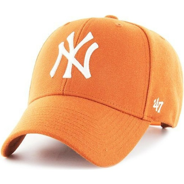 47-brand-curved-brim-new-york-yankees-mlb-mvp-orange-snapback-cap