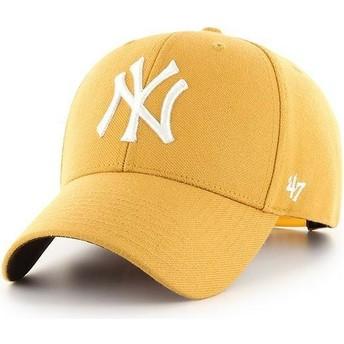 47 Brand Curved Brim New York Yankees MLB MVP Yellow Snapback Cap