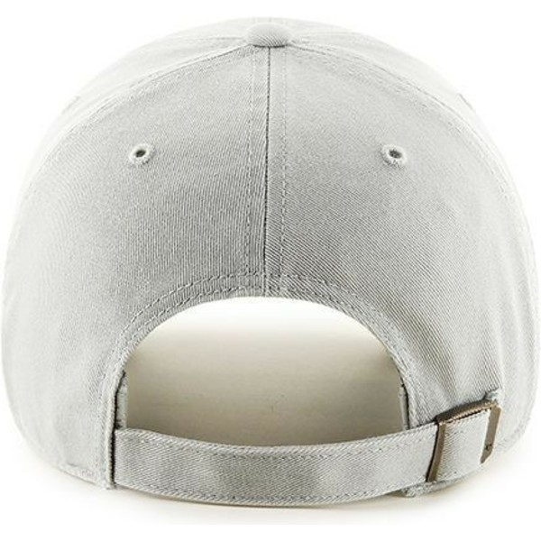 47-brand-curved-brim-new-york-yankees-mlb-clean-up-light-grey-cap