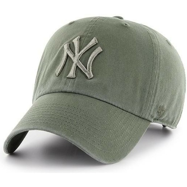 47-brand-curved-brim-green-logo-new-york-yankees-mlb-clean-up-light-green-cap
