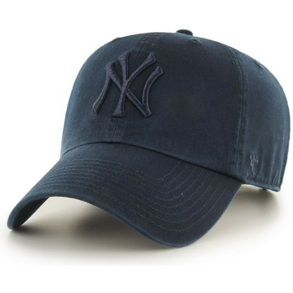 47-brand-curved-brim-navy-blue-logo-new-york-yankees-mlb-clean-up-navy-blue-cap