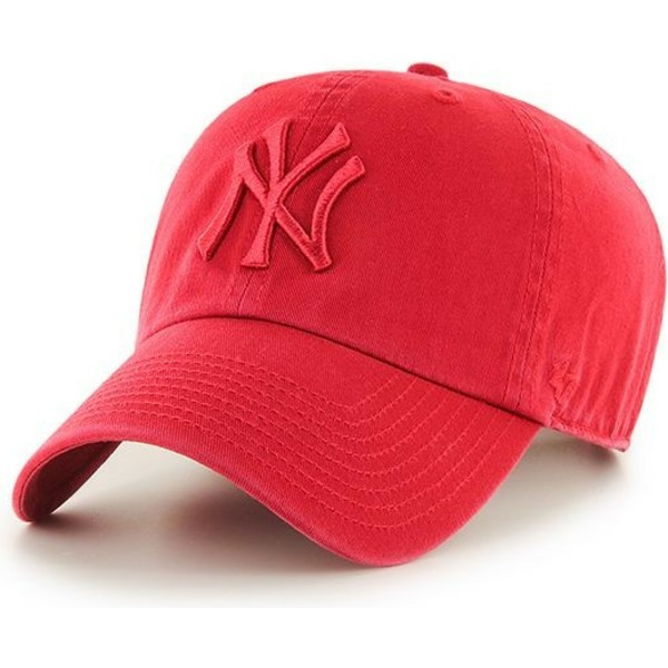 47-brand-curved-brim-red-logo-new-york-yankees-mlb-clean-up-red-cap