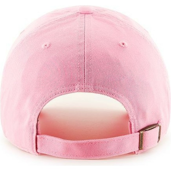 47-brand-curved-brim-pink-logo-new-york-yankees-mlb-clean-up-pink-cap