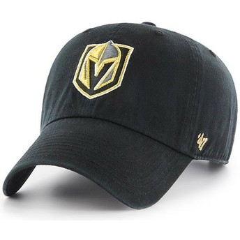 47 Brand Curved Brim Vegas Golden Knights NHL Clean Up Black Cap