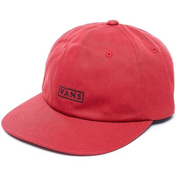 Vans Curved Brim Bill Red Adjustable Cap