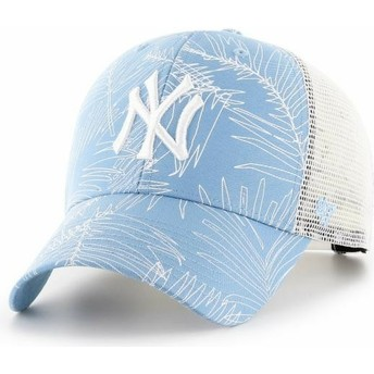 47 Brand New York Yankees MLB MVP Palma Light Blue Trucker Hat