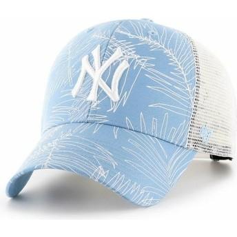 47 Brand New York Yankees MLB MVP Palma Light Blue Trucker Hat