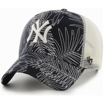 47 Brand New York Yankees MLB MVP Palma Navy Blue Trucker Hat