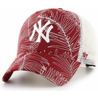 47 Brand New York Yankees MLB MVP Palma Red Trucker Hat