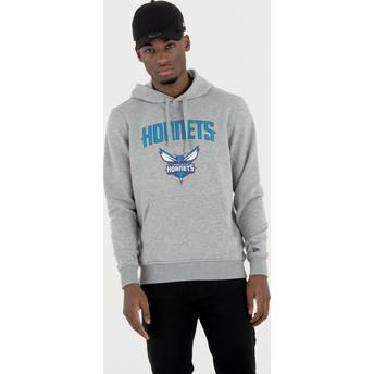 New Era Charlotte Hornets NBA Grey Pullover Hoody Sweatshirt