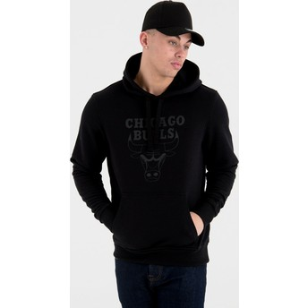 New Era Black Logo Chicago Bulls NBA Black Pullover Hoody Sweatshirt