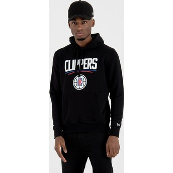 New Era Los Angeles Clippers NBA Black Pullover Hoody Sweatshirt