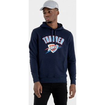 New Era Oklahoma City Thunder NBA Navy Blue Pullover Hoody Sweatshirt