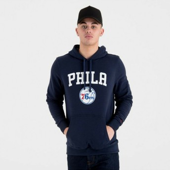 New Era Philadelphia 76ers NBA Navy Blue Pullover Hoody Sweatshirt