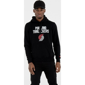 New Era Portland Trail Blazers NBA Black Pullover Hoody Sweatshirt