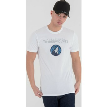 New Era Minnesota Timberwolves NBA White T-Shirt
