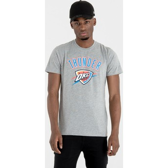New Era Oklahoma City Thunder NBA Grey T-Shirt
