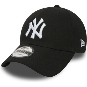 New Era Curved Brim 9FORTY Essential New York Yankees MLB Black Adjustable Cap