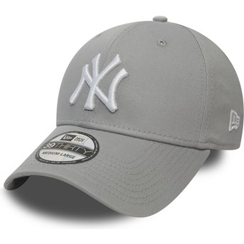 New Era Curved Brim 39THIRTY Classic New York Yankees MLB Grey Fitted Cap