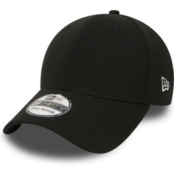 New Era Curved Brim 39THIRTY Basic Flag Black Fitted Cap