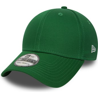 New Era Curved Brim 39THIRTY Basic Flag Green Fitted Cap