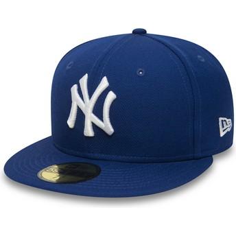 New Era Flat Brim 59FIFTY Essential New York Yankees MLB Blue Fitted Cap