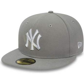 New Era Flat Brim White Logo9FIFTY Essential New York Yankees MLB Grey Fitted Cap