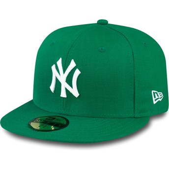 New Era Flat Brim 59FIFTY Essential New York Yankees MLB Green Fitted Cap