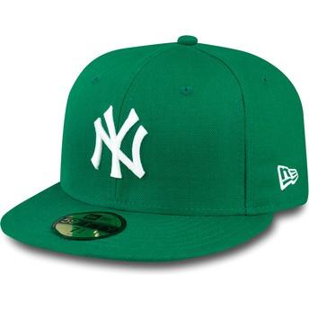 New Era Flat Brim 59FIFTY Essential New York Yankees MLB Green Fitted Cap